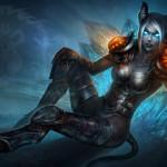 Аватар Девушка - дреней в латах и с синими глазами / арт к игре World of Warcraft