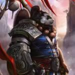 Аватар Пандарен в латах / арт к игре World of Warcraft