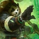 Аватар Пандарен протягивает вперед руку / арт к игре World of Warcraft