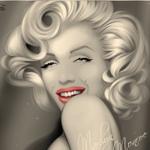 99px.ru аватар Нарисованная Мэрилин Монро