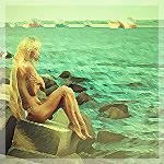 Аватар Девушка сидит у воды, by Roman Smirnov