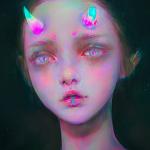 Аватар Грустная девушка с обломанным рогом, by Yanjun Cheng