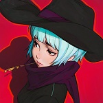 Аватар Девушка в шляпе с голубыми волосами, by Kuvshinov Ilya