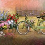 Аватар Велосипед стоит рядом с цветами