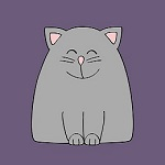 Аватар Серый улыбающийся кот