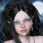 Аватар Эльфийка с темными длинными волосами, зелеными глазами