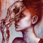 Аватар Девушка держит в руке окровавленный череп животного, by Leon C