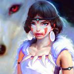 Аватар Сан / San и Моро / Moro из аниме Принцесса Мононокэ / Mononoke Hime, by Irakli Nadar