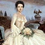 Аватар Дама с белыми цветами сидит на бетонной скамье в зловещем парке
