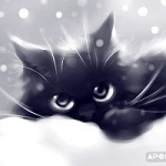 Аватар Рисованный милый котенок, by Apofiss