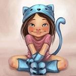 Аватар Девочка в образе кошки