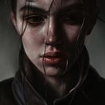 Аватар Рисунок грустной девушки с мокрыми волосами, by Elena Sai