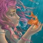 Аватар Девушка с рыбкой