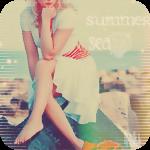 Аватар Девушка в белом платье сидит на камне на морском побережье (Summer, sea / лето, море)