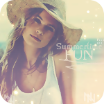 Аватар Красивая девушка в соломенной шляпе на фоне моря (Summer fun / радостное лето)