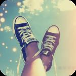 99px.ru аватар Ноги в кедах на фоне неба