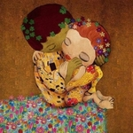 Аватар Поцелуй влюбленных на цветущей поляне над пропастью