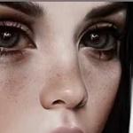 Аватар Девушка с большими серыми глазами, by ElenaSai
