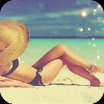 Аватар Девушка в соломенной шляпе на морском пляже