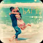 Аватар На морском берегу кружатся обнявшись парень и девушка (happy / счастливые)