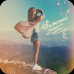 Аватар Девушка с фотоаппаратом на фоне гор и неба (Summer / Лето)