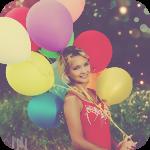 Аватар Девушка со связкой воздушных шаров
