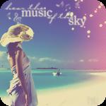 Аватар Девушка, стоя на пляже, смотрит на море и небо (music of the sky / музыка неба)