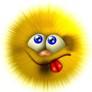 Аватар Улыбающийся пушистый смайлик