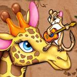 Аватар Бурундук играет на гитаре на носу жирафа