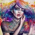 Аватар Портрет девушки-вампира с голубыми волосами
