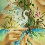 Аватар В руке девушки белый лебедь