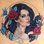 Аватар Девушка в окружении цветов