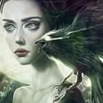 Аватар Девушка с вороном на плече
