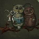 Аватар Две умные совы сидят на ветке дерева, by Robert Richter