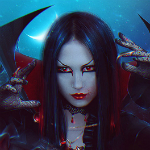 Аватар Девушка с красными глазами, by Nikulina-Helena