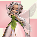 Аватар Девушка-эльф в одежде в виде розовой розы