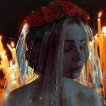 Аватар Грустная невеста с кровью на лице, by Nikulina-Helena