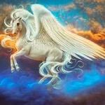 99px.ru аватар Сказочный пегас в облачном небе