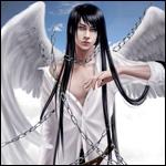 Аватар Ангел в цепях с длинными черными волосами