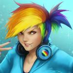Аватар Рейнбоу Деш / Rainbow Dash из мультсериала Мои маленькие пони: Дружба — это чудо / My Little Pony: Friendship is Magic