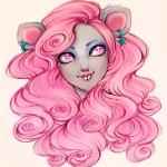 Аватар Девушка - мышка с розовыми волосами, by AShiori-chan