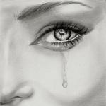 Аватар С глаза девушки стекает слеза