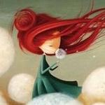 Аватар Девочка с яркими волосами держит в руках отцветший одуванчик