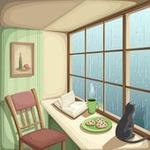 Аватар Кот смотрит на дождь за окном