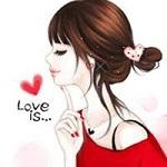 Аватар Девочка с закрытыми глазами, (Love is / Это любовь)