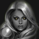 Аватар Девушка с желтыми глазами