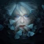 Аватар Лицо девушки облепленное бабочками