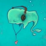 Аватар Кит под водой в наушниках