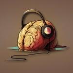 Аватар Человеческий мозг в наушниках
