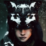 Аватар Девушка - шаман в волчьей шкуре